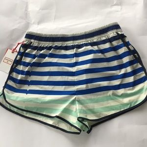Hunter for Target Striped Athletic White Shorts